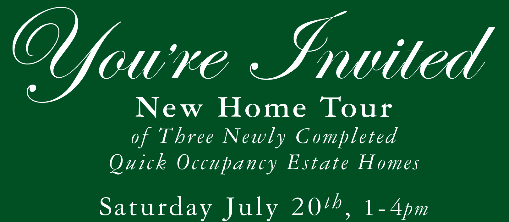 New Home Tour of Our Three Newly Completed Quick Occupancy Estate Homes!